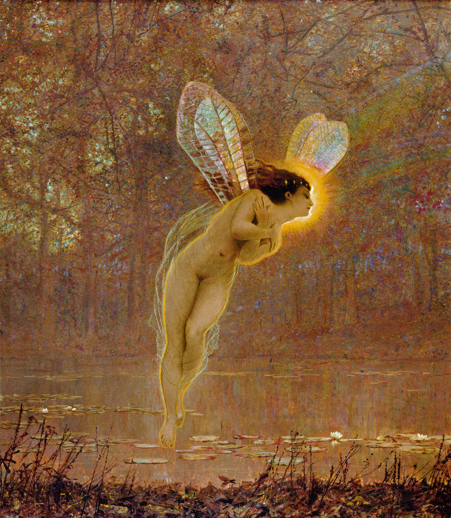 Detail of Iris, detail of the fairy, 1886 by John Atkinson Grimshaw