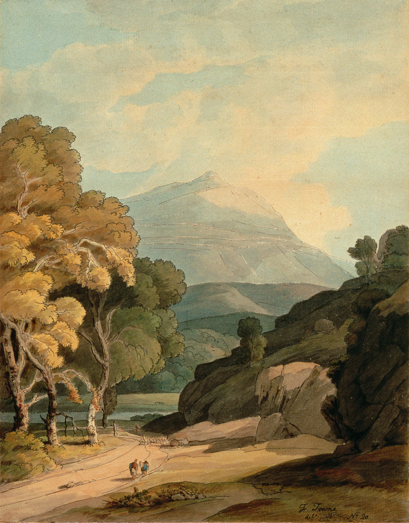 Detail of Near Maentwrog, North Wales by Francis Towne
