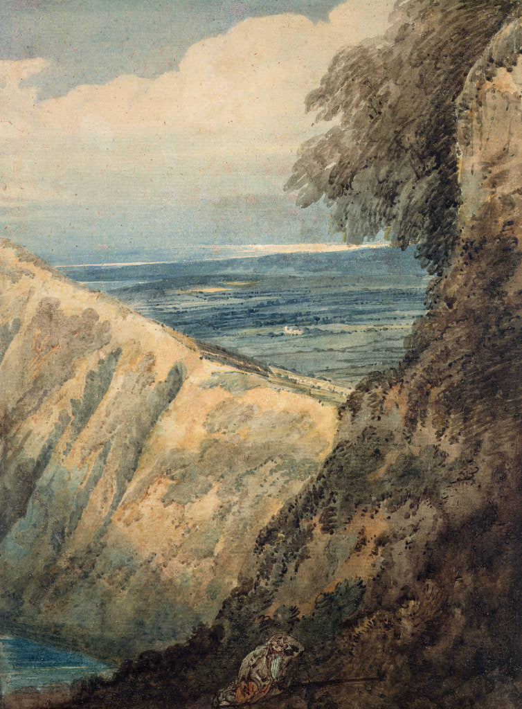 Detail of Coast of Dorset, near Lulworth Cove, 1797 by Thomas Girtin