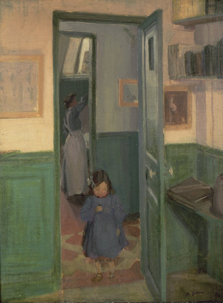 Detail of In Sickert's House, 1907 by Harold Gilman