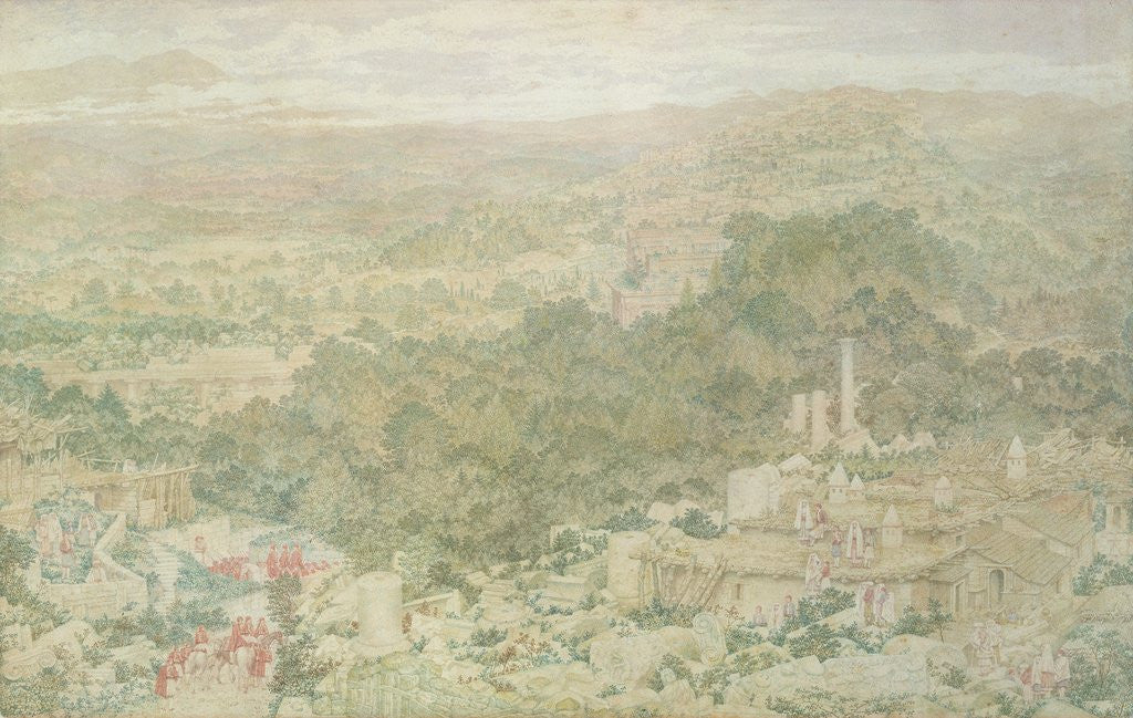 Detail of A View of the Ancient City of Tlos in Lycia, 1883 by Richard Dadd