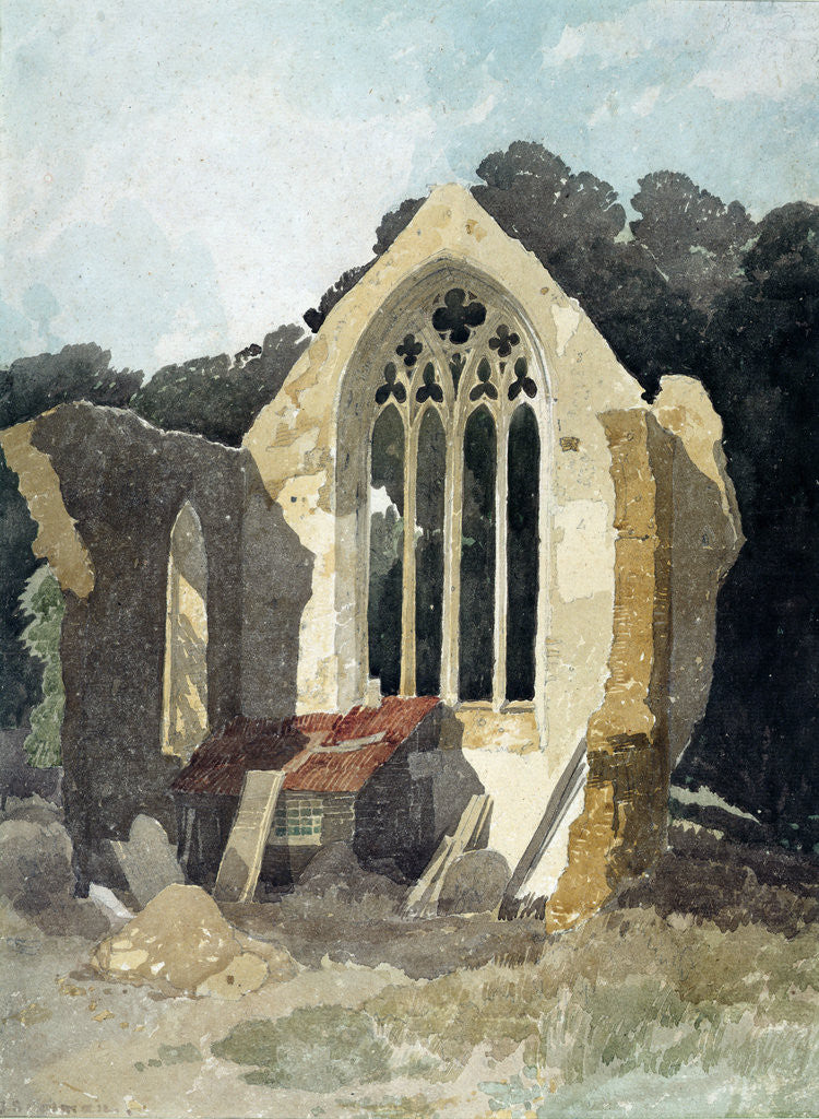 Detail of The Refectory at Walsingham Priory by John Sell Cotman