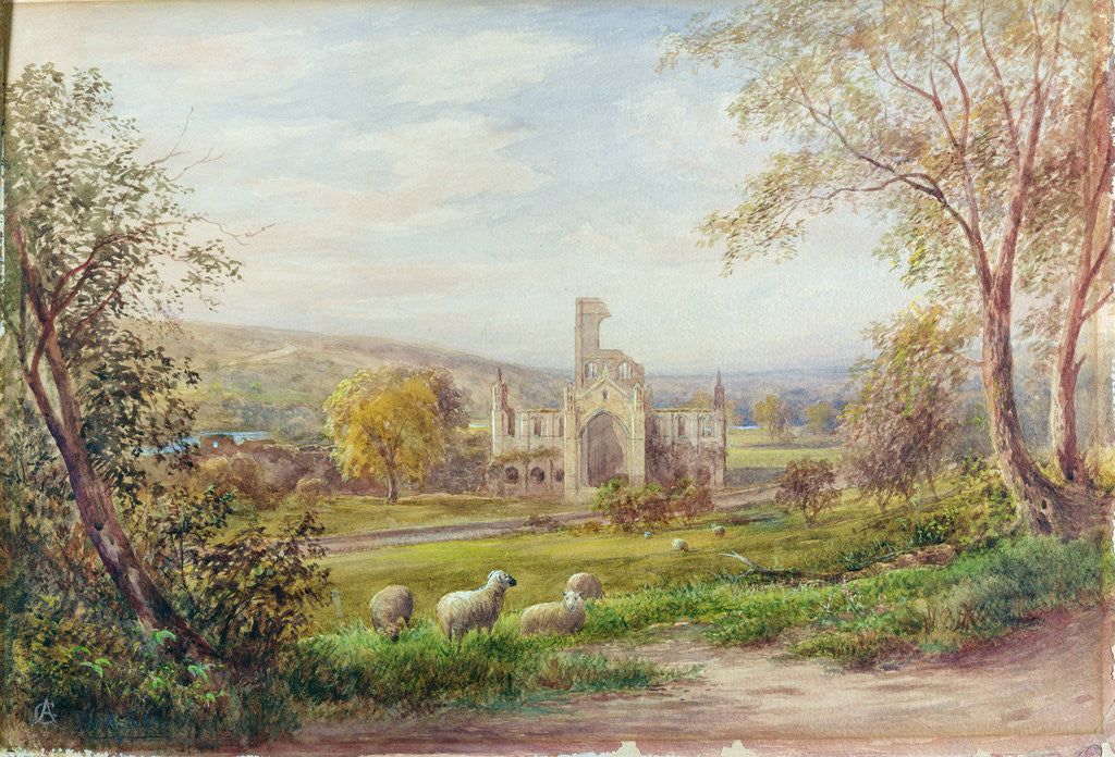 Detail of Kirkstall Abbey, Leeds by George Alexander