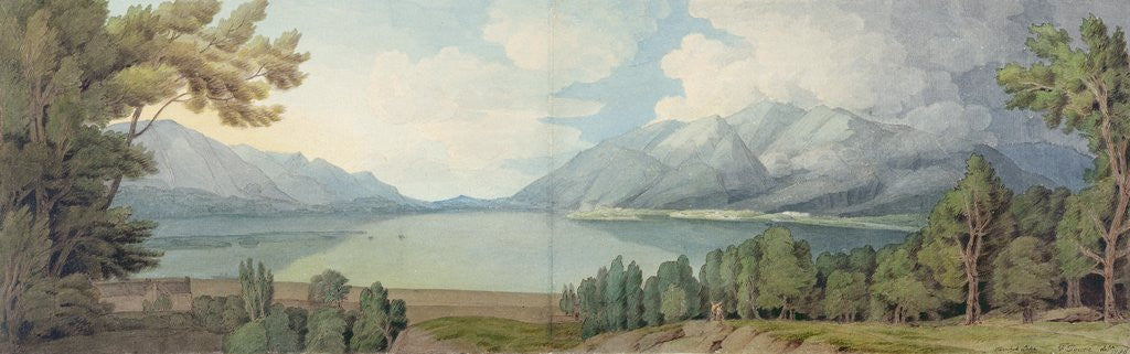 Detail of Derwentwater from the South, 1786 by Francis Towne