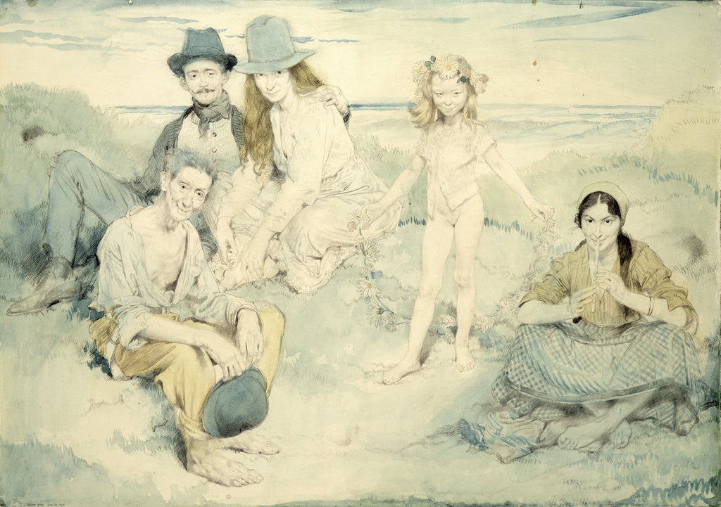 Detail of On the Irish Shore, 1910 by Sir William Orpen