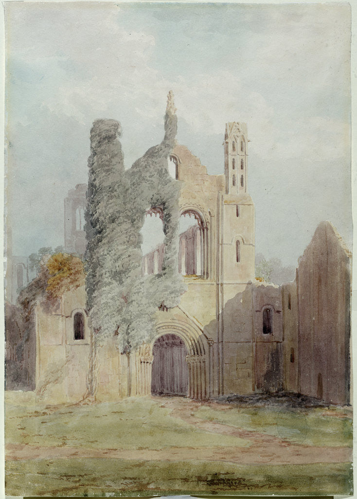 Detail of Kirkstall Abbey from the West Front by Joseph Rhodes