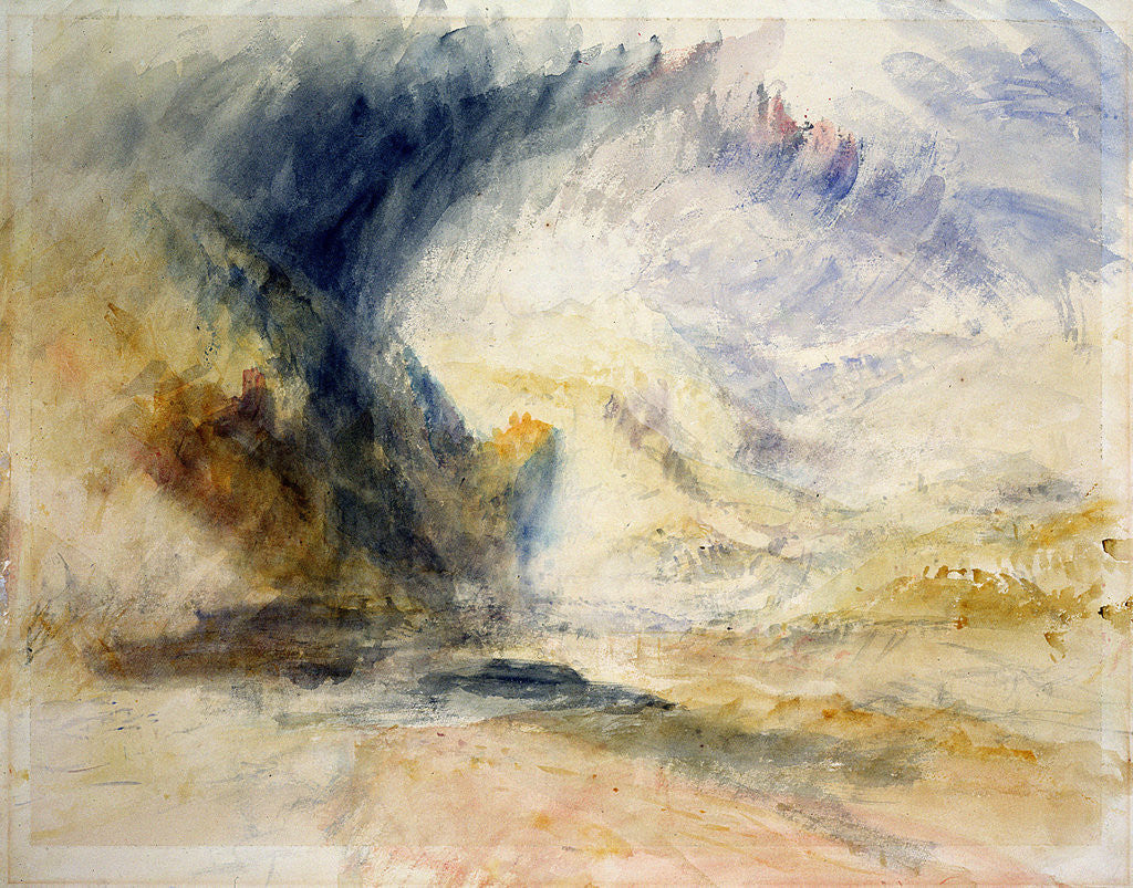Detail of Mount St Gothard by Joseph Mallord William Turner