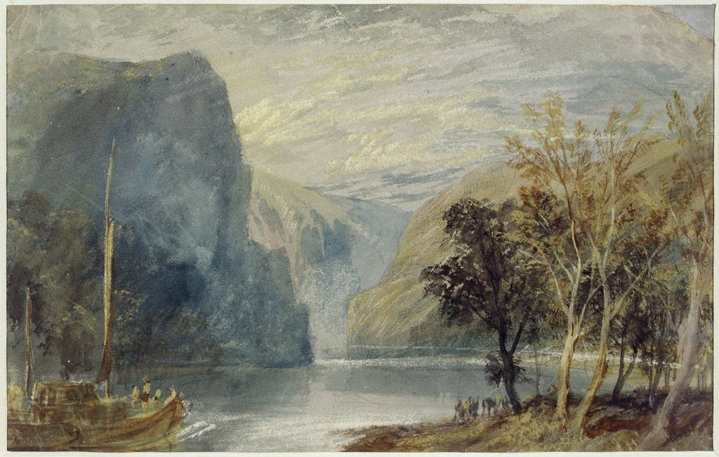 Detail of The Lorelei Rock, c.1817 by Joseph Mallord William Turner