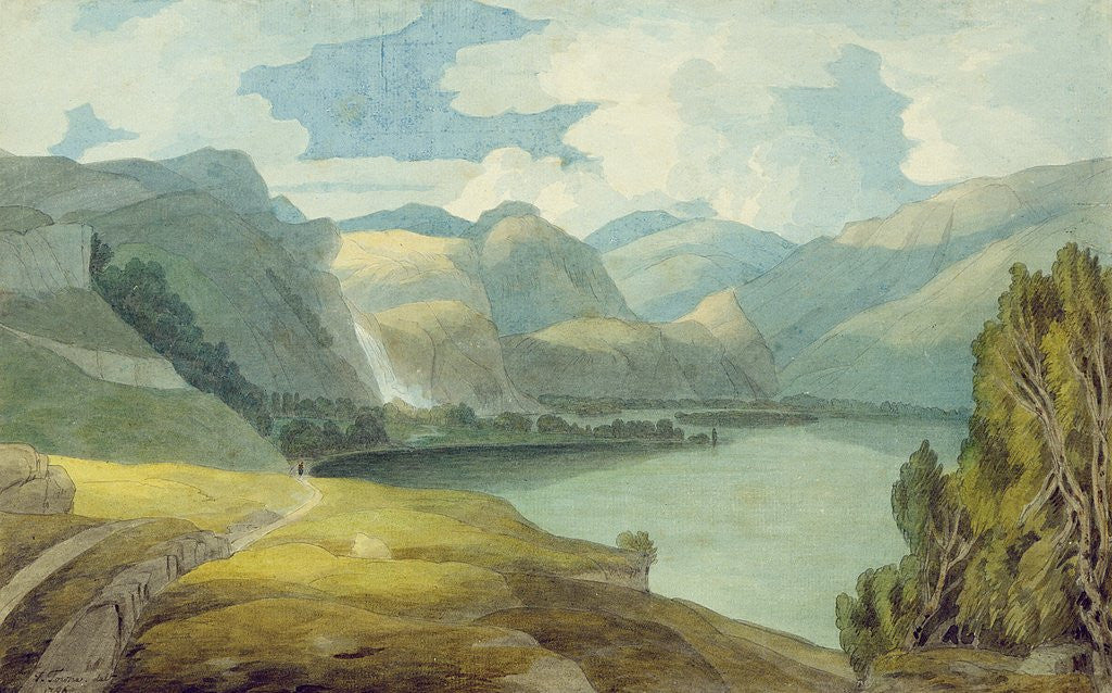 Detail of Derwentwater Looking South, 1786 by Francis Towne