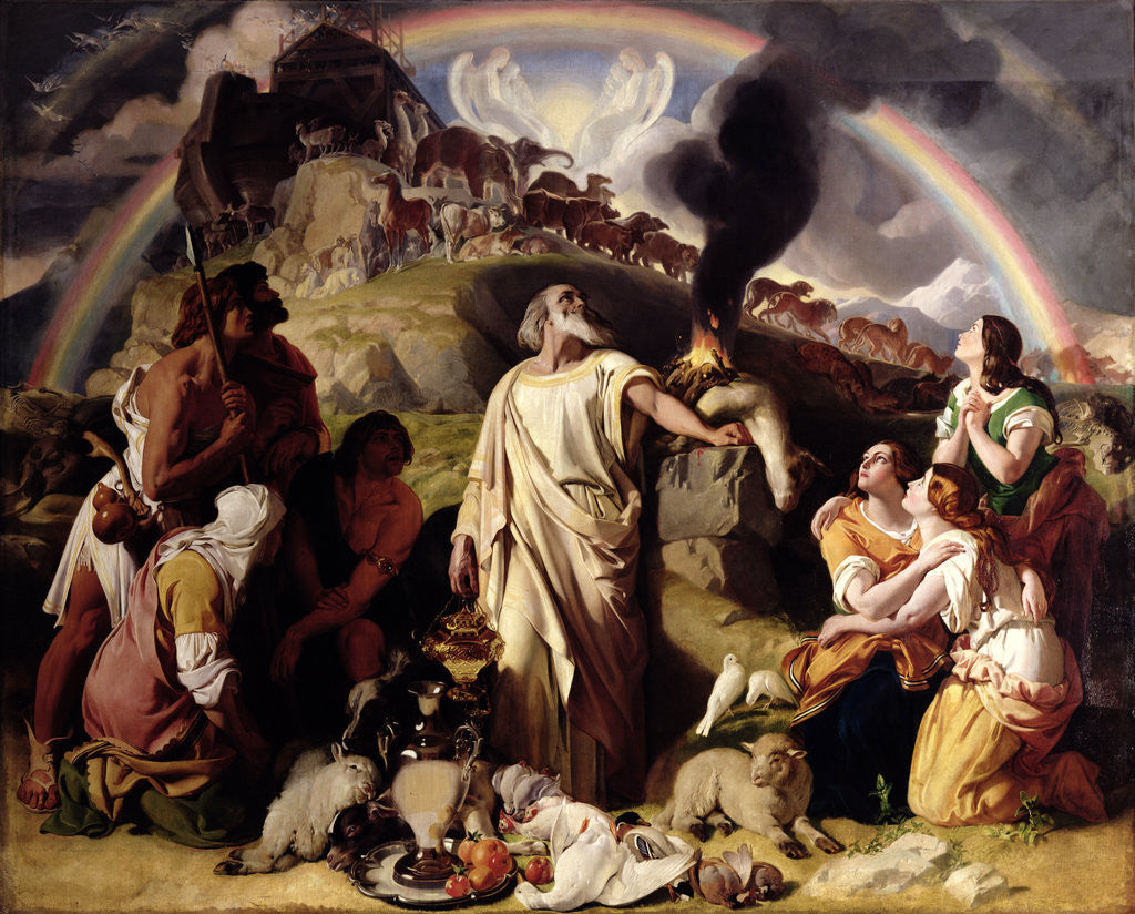 Detail of Noah's Sacrifice, 1847-53 by Daniel Maclise