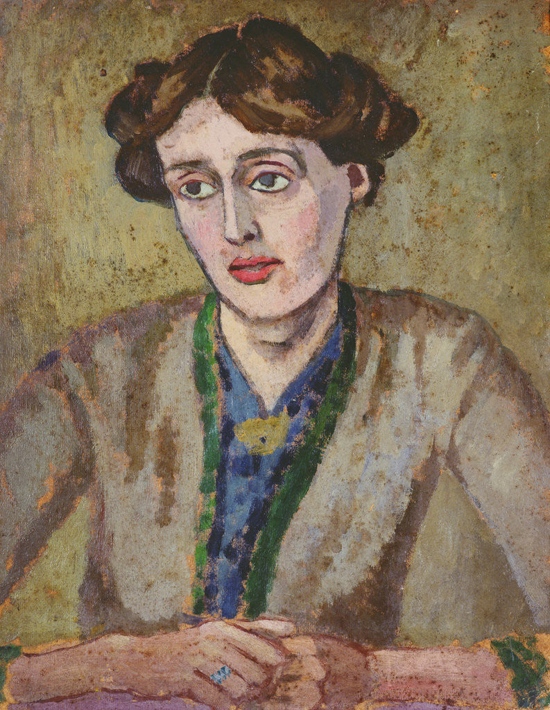 Detail of Virginia Woolf by Roger Eliot Fry