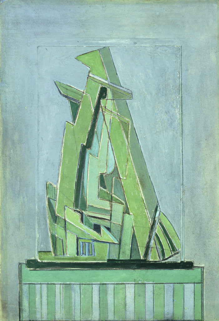 Detail of Abstract Composition No 1, 1914-18 by Lawrence Atkinson