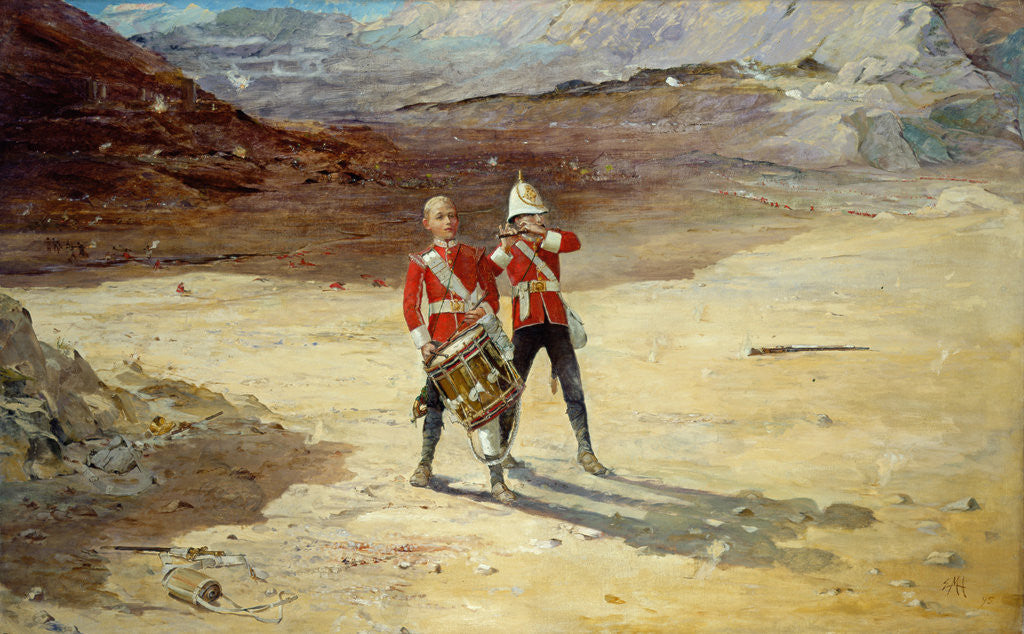 Detail of The Drums of the Fore and Aft, 1895 by Edward Matthew Hale