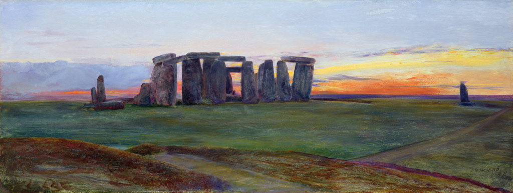 Detail of Stonehenge, 1872 by John William Inchbold