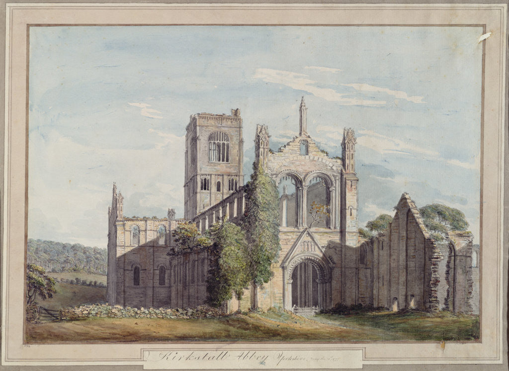 Detail of North West View of Kirkstall Abbey, 1777 by Moses Griffiths