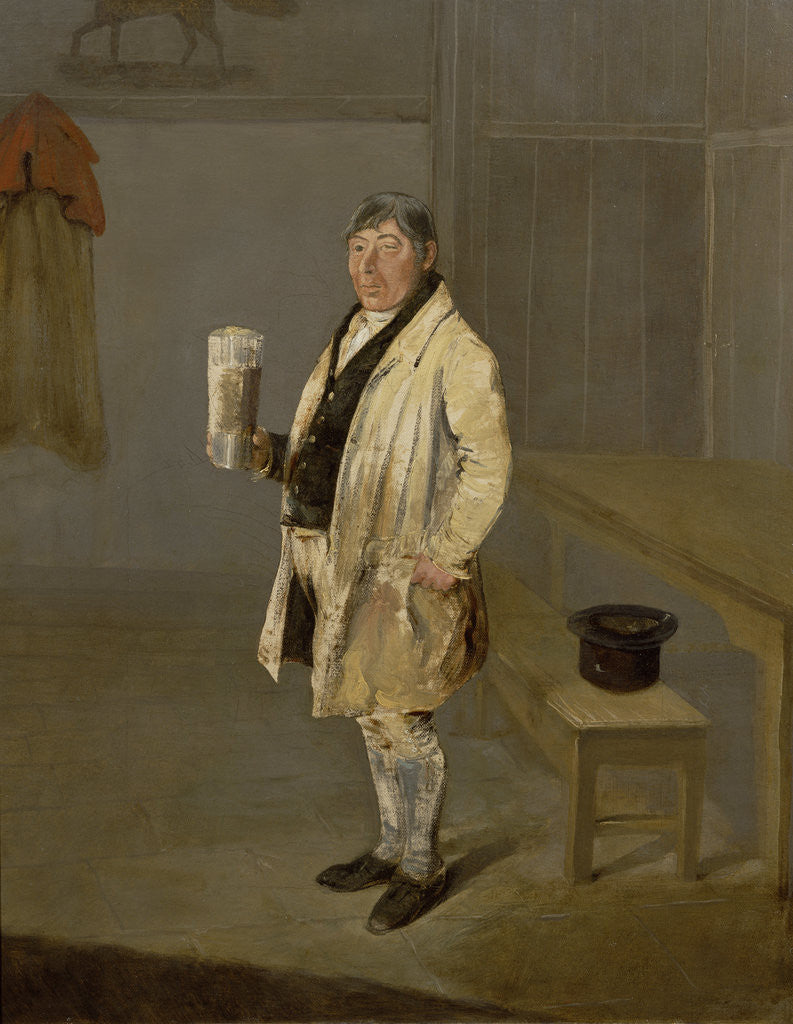 Detail of Portrait of a Coachman from Bramham Park, Yorkshire, identified as William Fox, c.1822 by George Garrard