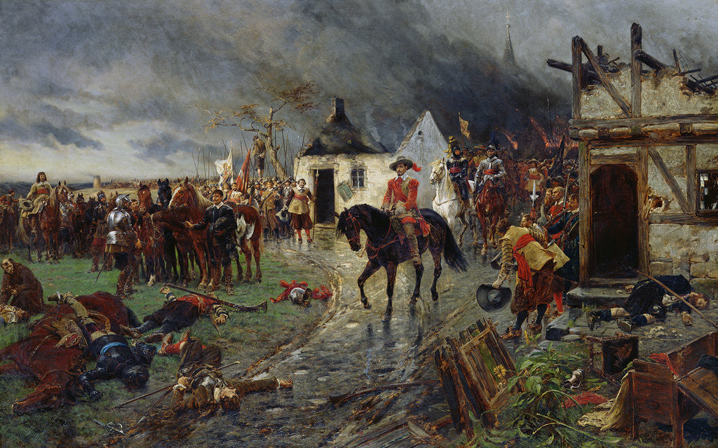 Detail of Wallenstein: A Scene of the Thirty Years War by Ernest Crofts