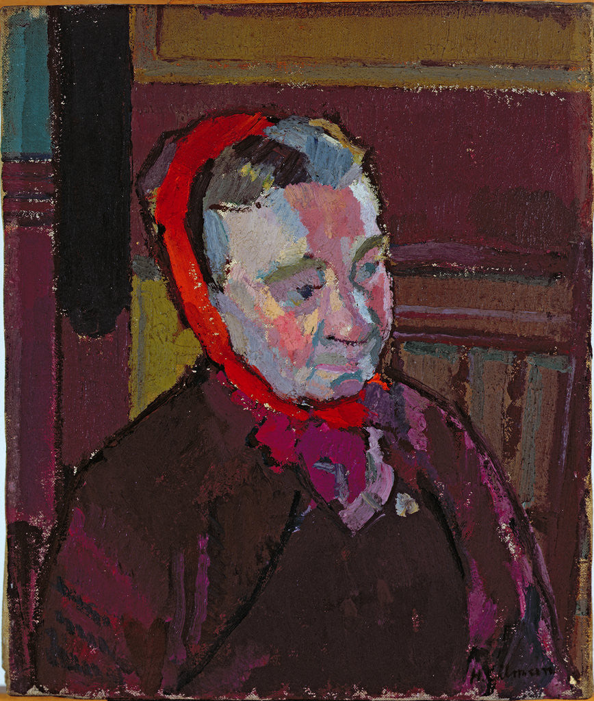 Detail of Portrait of Mrs Mounter, 1916-17 by Harold Gilman