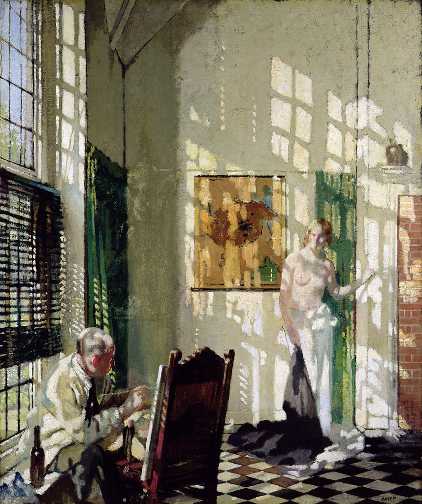 Detail of The Studio by Sir William Orpen