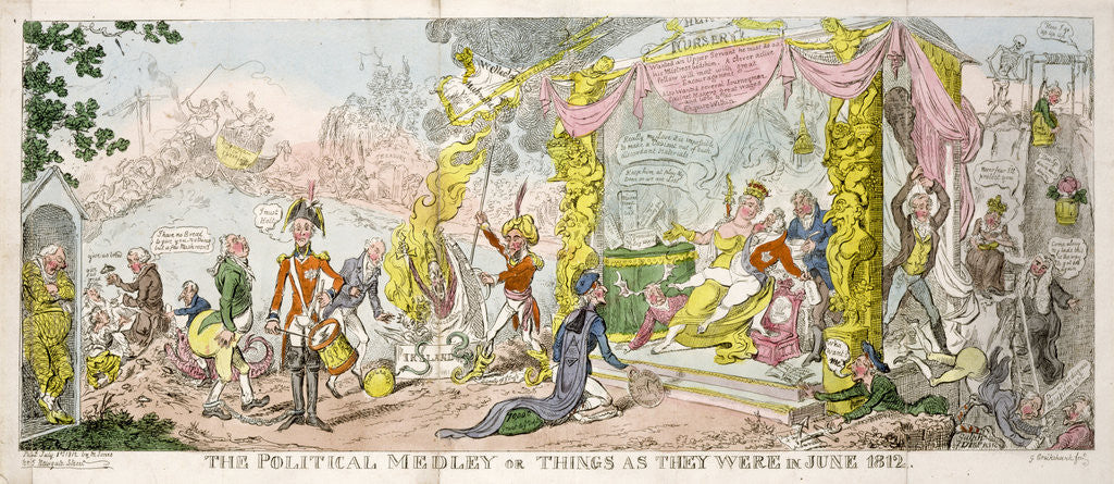 Detail of 'The Political Medley' or 'Things as They Were in June 1812', pub. 1812 by George Cruikshank