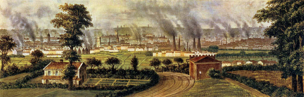 Detail of Leeds from Rope Hill, c.1840 by Alphonse Douseau