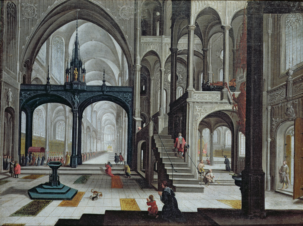 Detail of Procession in a Cathedral by Bartolomeus van Bassen