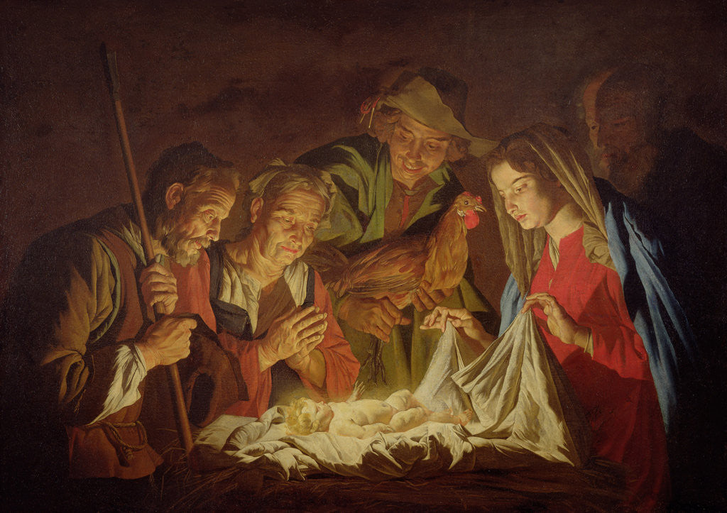 Detail of Adoration of the Shepherds by Stomer