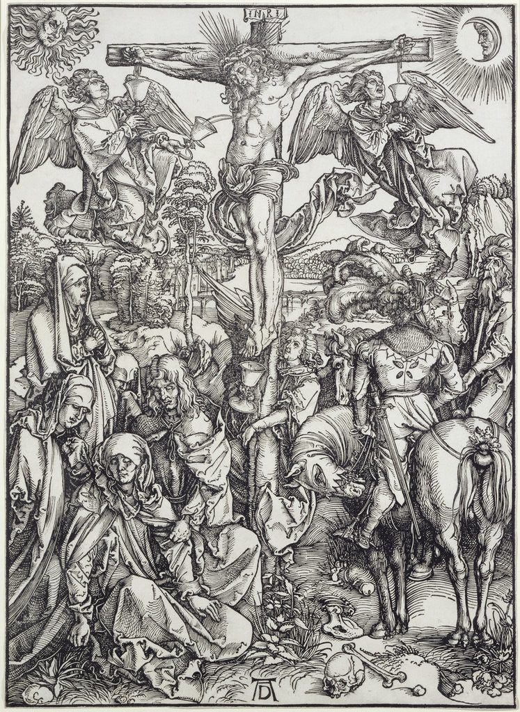 Detail of Christ on the Cross by Albrecht Dürer