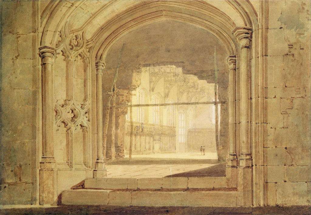 Detail of Christchurch Hall, Oxford, c.1800 by Joseph Mallord William Turner