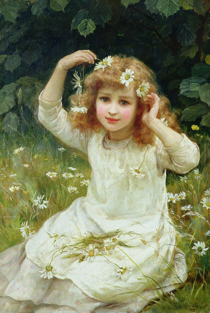 Detail of Marguerites, 1889 by Frederick Morgan