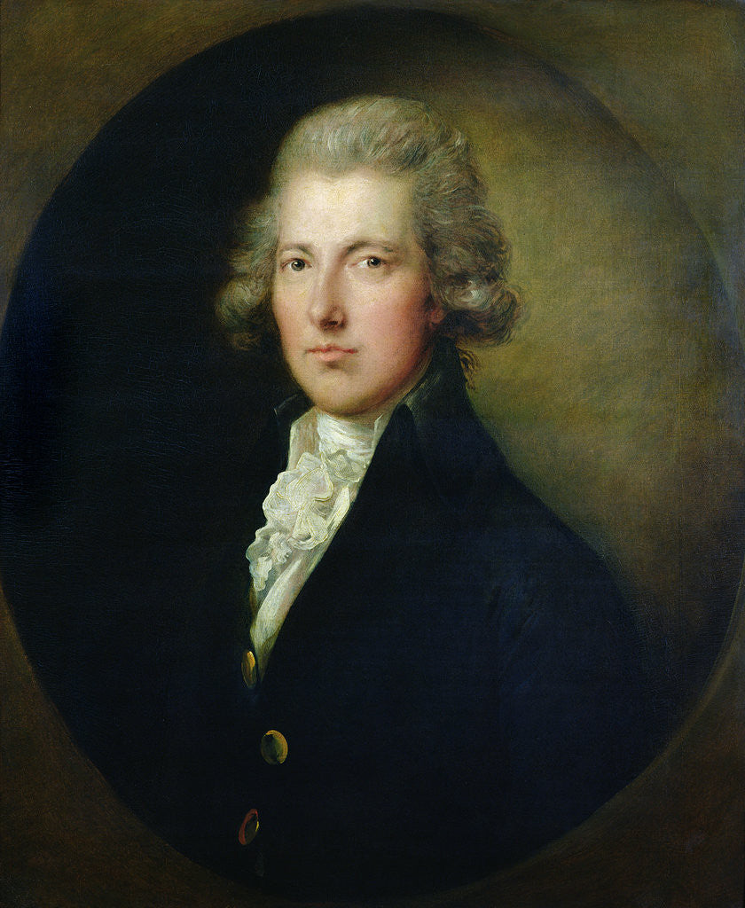 Detail of Portrait of William Pitt the Younger by Gainsborough Dupont