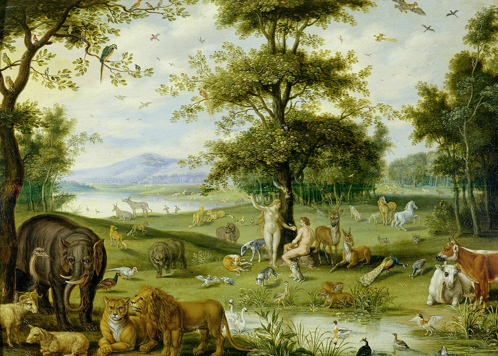 Detail of Adam and Eve in the Garden of Eden, c.1600 by Jan Brueghel