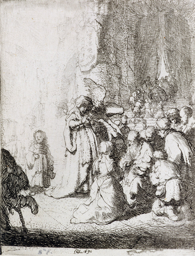 Detail of Presentation in the Temple by Rembrandt Harmensz. van Rijn