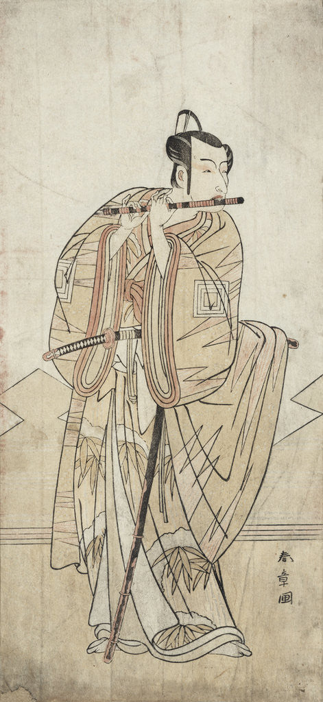Detail of An Actor Playing a Flute by Katsukawa Shunsho