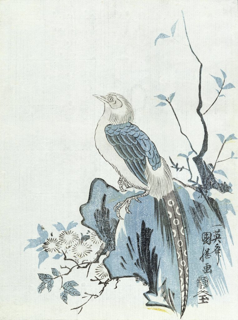 Detail of Bird on a Rock by Japanese School