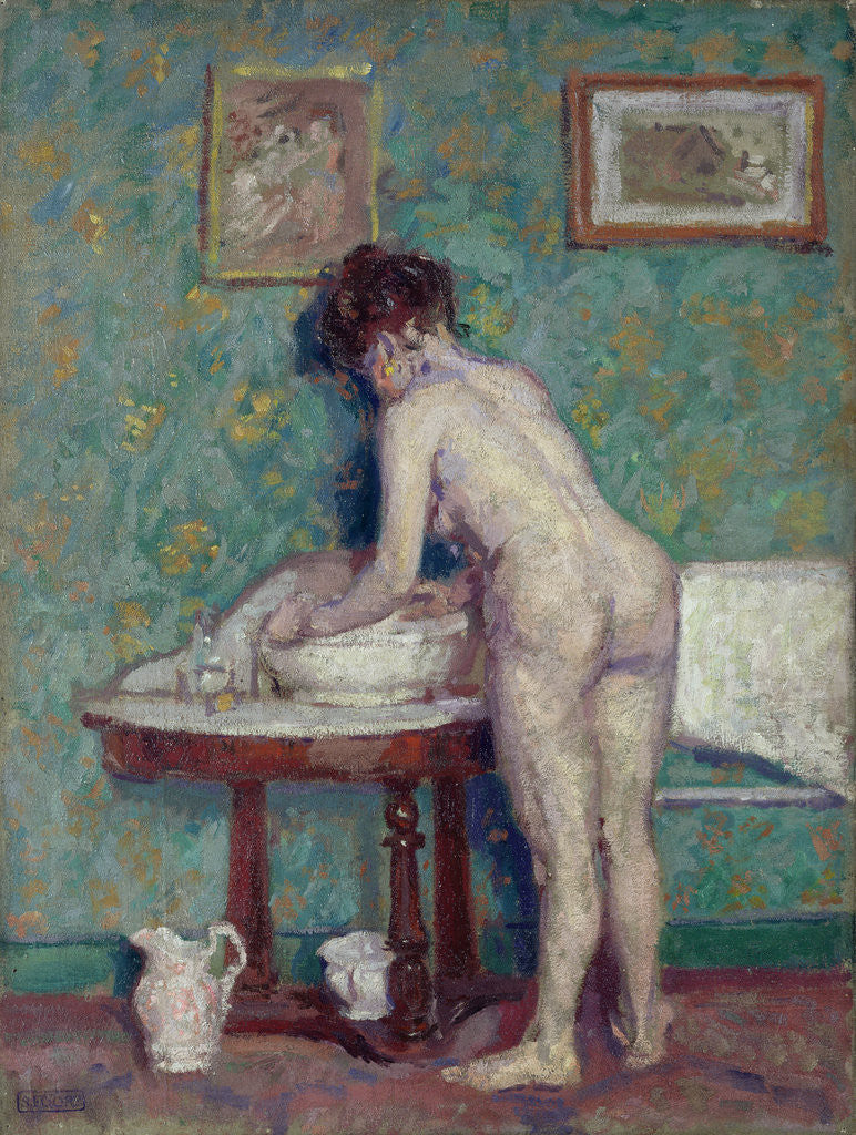 Detail of Interior with Nude by Spencer Frederick Gore