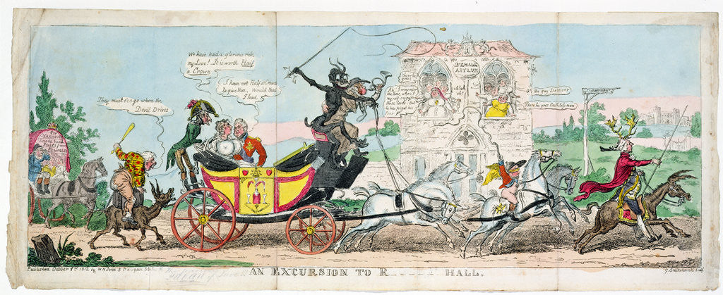 Detail of An Excursion into R.... Hall, 1812 by George Cruikshank