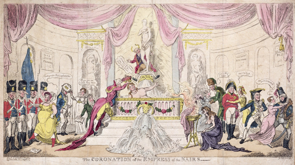 Detail of The Coronation of the Empress of the Nairs, 1819 by George Cruikshank