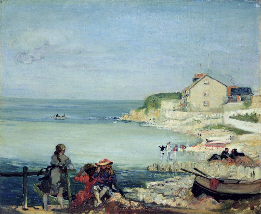 Detail of Beach Scene, Swanage by Charles Edward Conder
