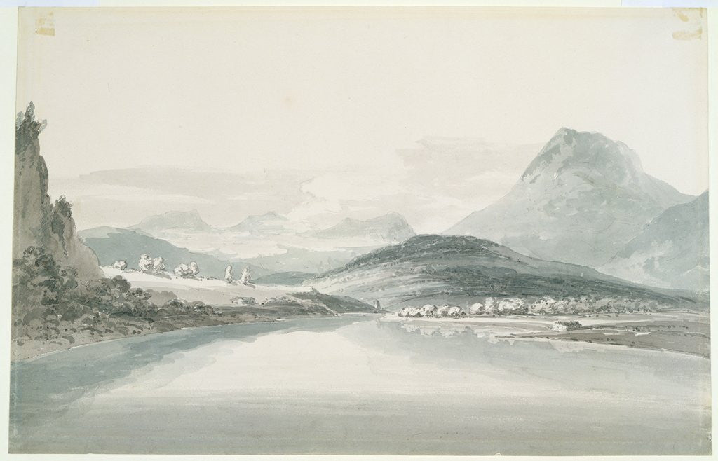 Detail of Lake of Klontal, after John Robert Cozens by Joseph Mallord William Turner
