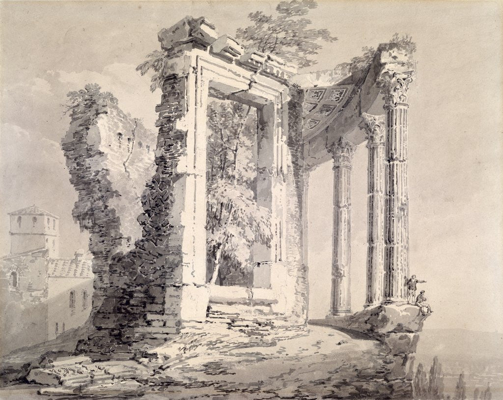 Detail of Temple of the Sibyl, Tivoli by Joseph Mallord William Turner