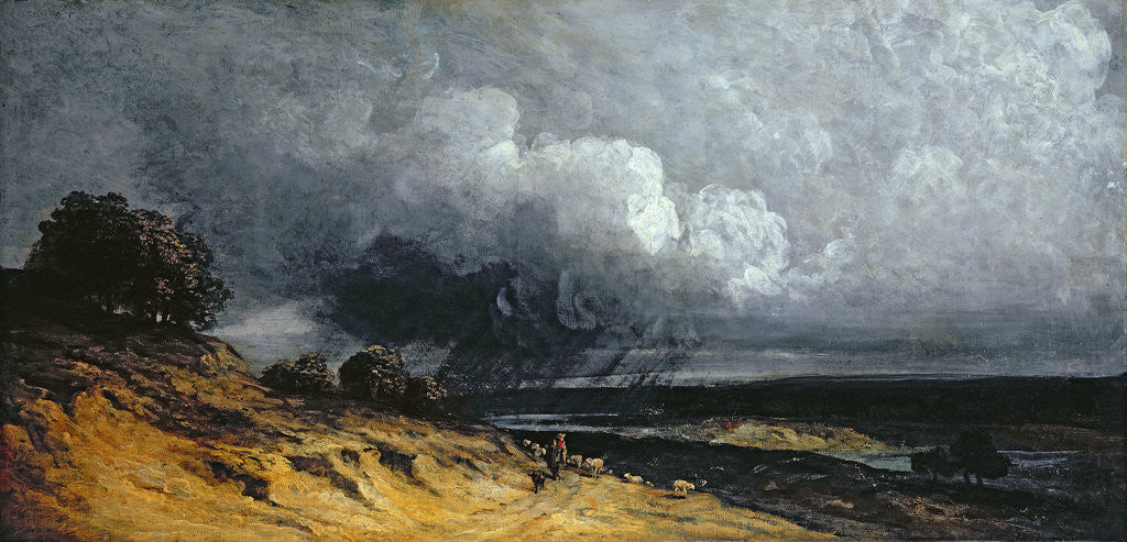 Detail of Storm near Montmartre by Georges Michel