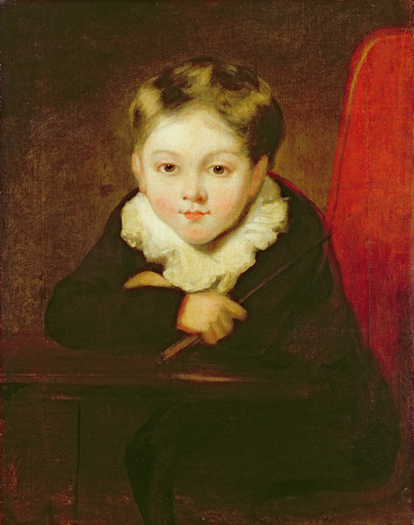 Detail of Portrait of the Artist's Son by William Robinson
