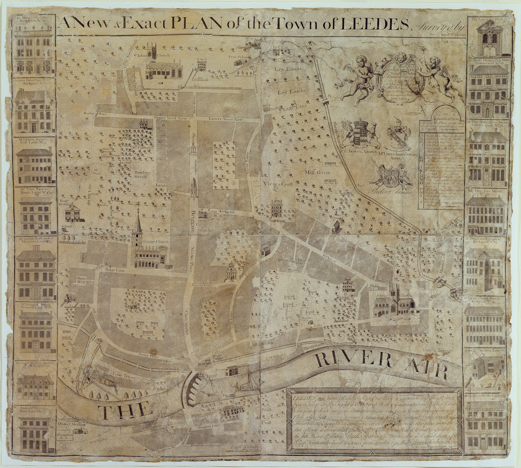 Detail of Plan of Leeds, surveyed by John Cossins, c.1730 by English School