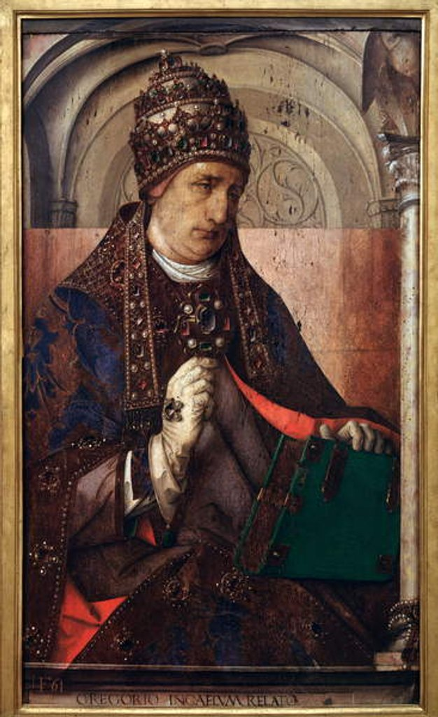 Detail of Portrait of Pope Gregory I, c.1435-75 by Anonymous