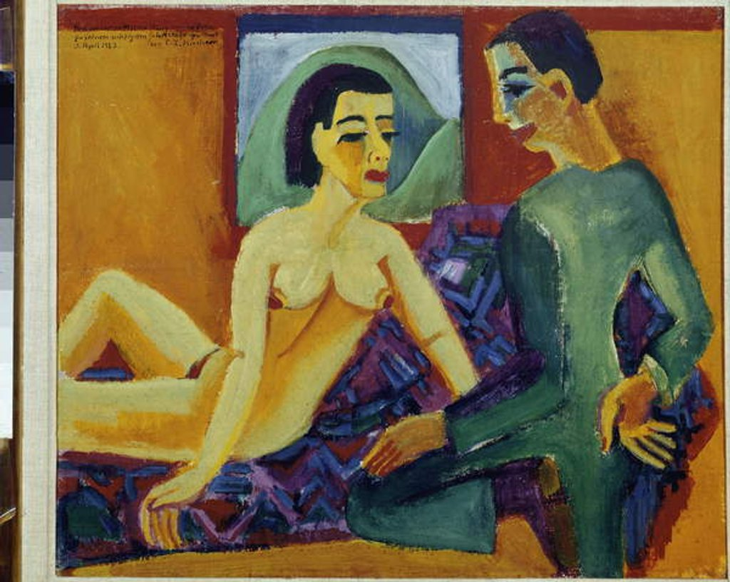 Detail of The Couple. Paris, National Museum of Modern Art Centre Pompidou by Ernst Ludwig Kirchner