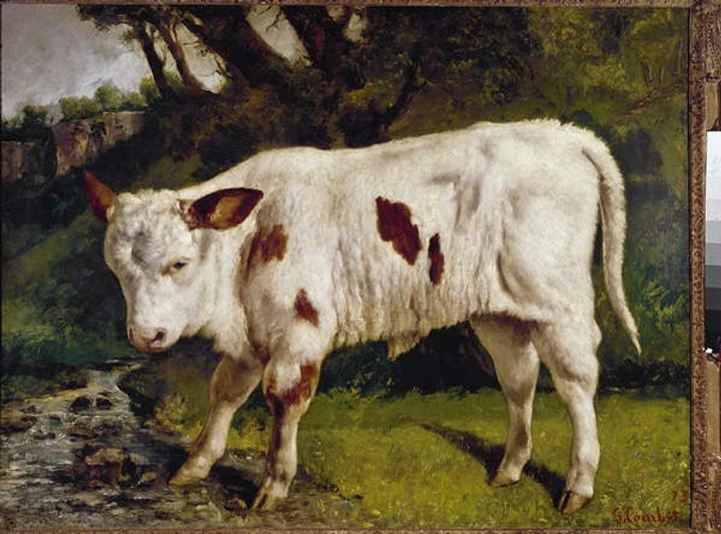 Detail of The calf by Gustave Courbet