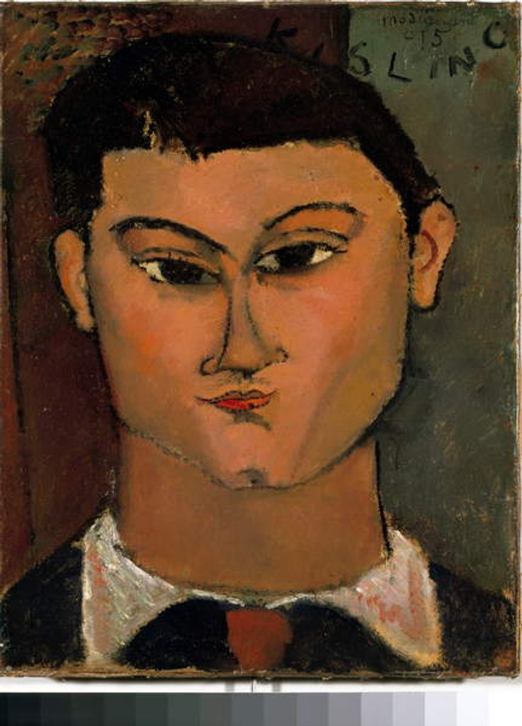 Detail of Ritratto di Moise Kisling by Amedeo Modigliani