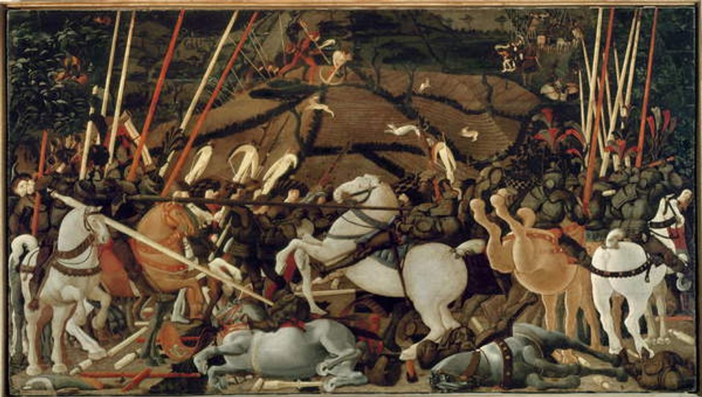 Detail of The Battle of San Romano in 1432: The Unseating of Bernardino della Carda, 1435-55 by Paolo Uccello