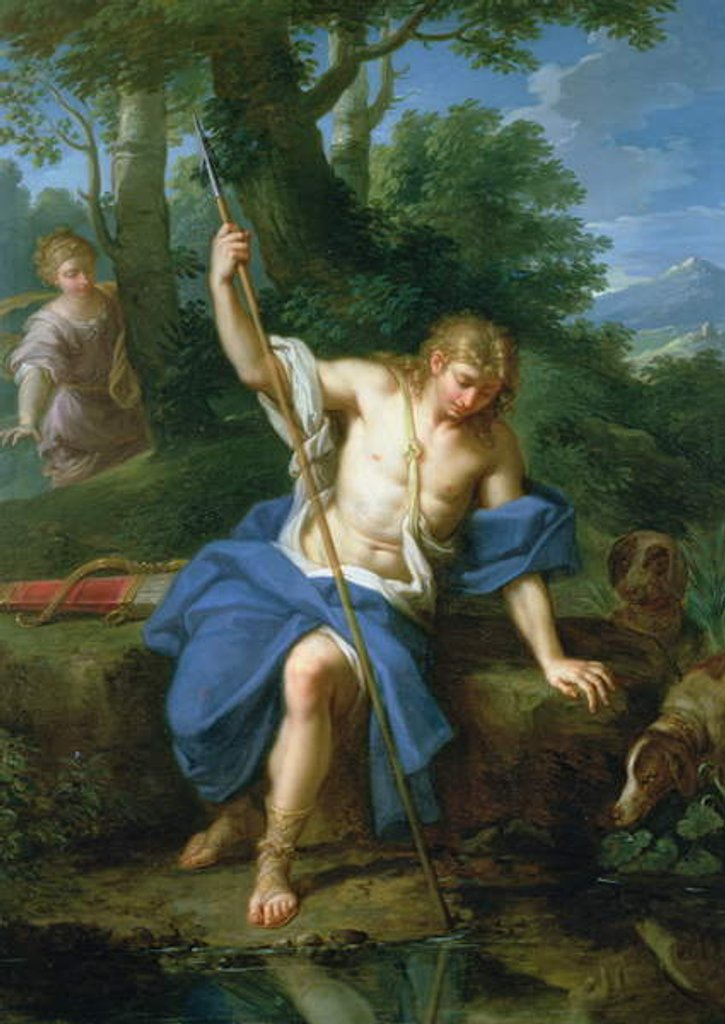 Detail of Narcissus and Echo by Placido Costanzi